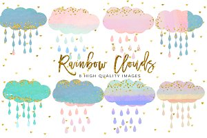 baby clouds clip art,