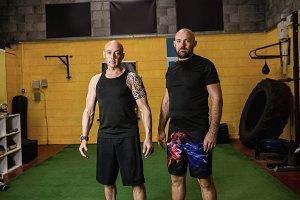 Portrait of confident thai boxers