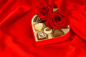 Red Roses and Chocolate Pralines