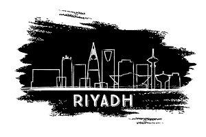 Riyadh Skyline Silhouette.