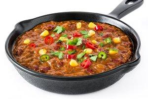 Traditional mexican chili con carne