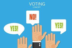 Voting hand.