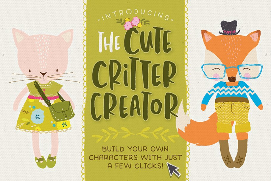 The Cute Critter Creator ~ Illustrations ~ Creative Market
