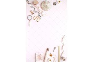 Pink Luxury Stationary Stock Photo