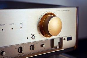 Vintage Audio Stereo Amp Volume Knob