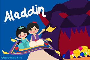 Digital Clipart Aladdin