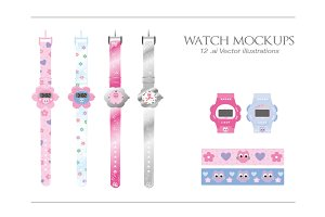Watch MockUp Vector