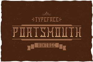 Portmouth Label Typeface