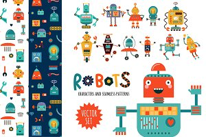 ROBOTS. Characters and patterns
