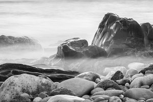 abstract stones and fog B&w