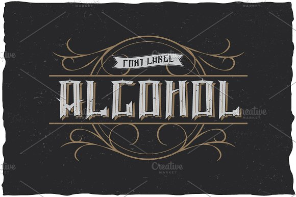 Alcohol Vintage Label Typeface