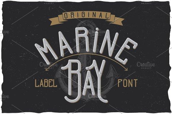 Marine Bay Vintage Label Typeface