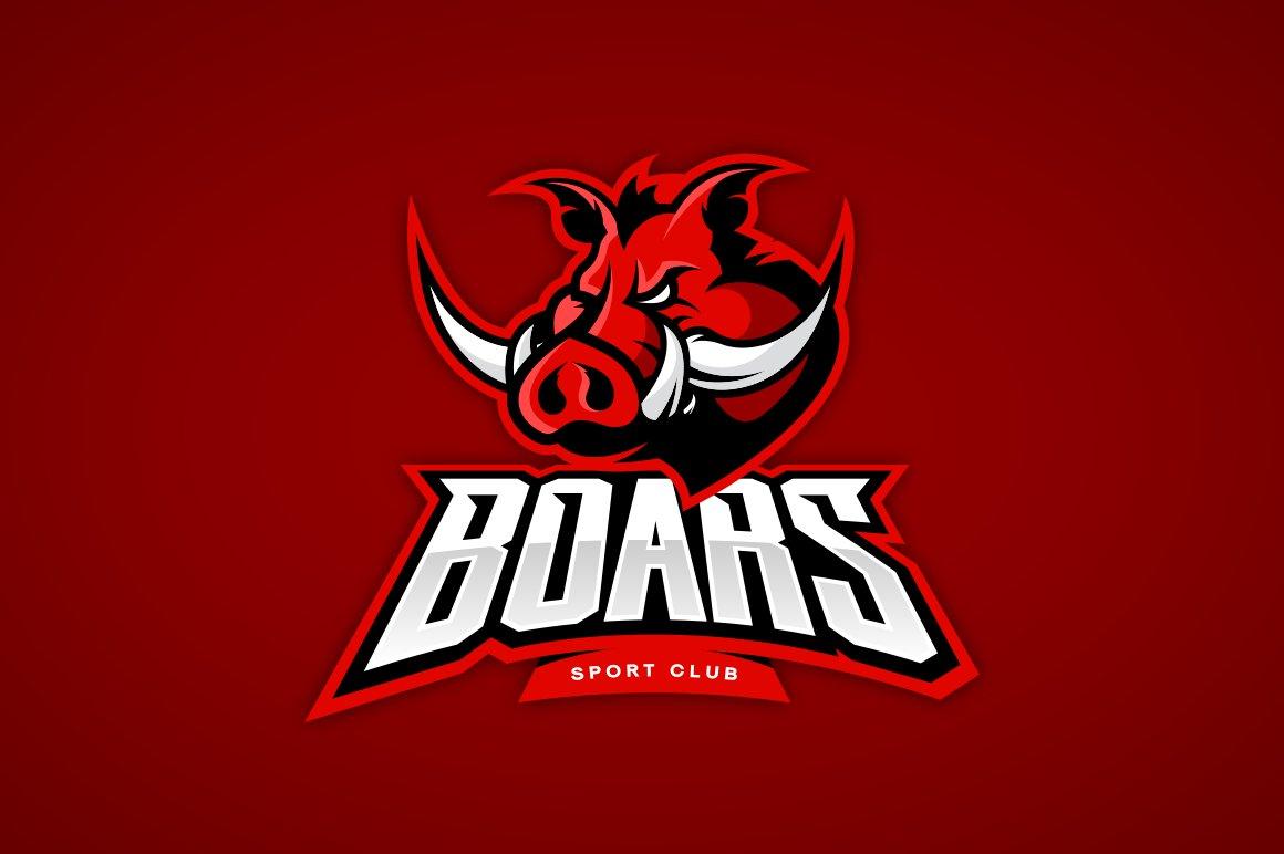 Boar Mascot Sport Logo Design Creative Daddy