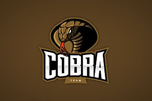 Cobra mascot sport logo design