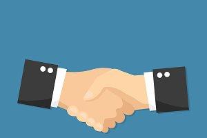 Handshake vector flat design