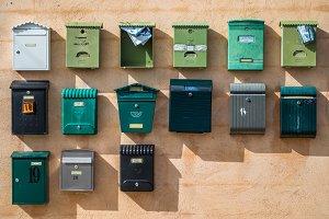 Wall of post bins