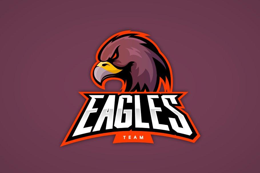 Eagle Mascot Sport Logo Design Pre Designed Photoshop Graphics Creative Market