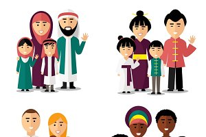 Different nationality families