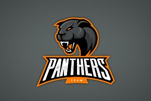 Panther mascot sport logo design