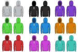Raglan hoodie vector template
