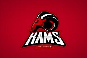 Ram mascot sport logo design