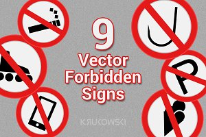 Forbidden Signs Vectors