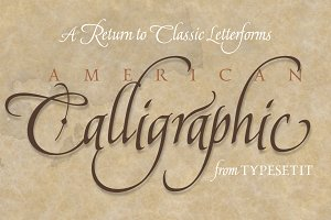 American Calligraphic 50% OFF