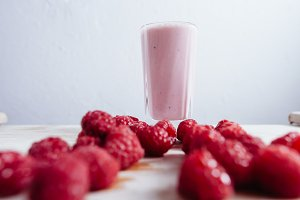 Raspberry smoothie fresh