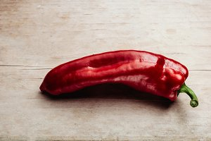 red pepper hot and big