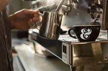 Cafe Coffee Cup PSD Mockup #6