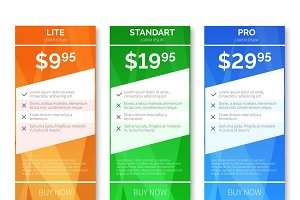 Pricing with polygonal background