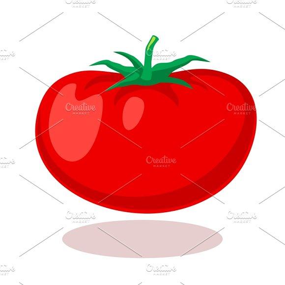 Tomato In Cartoon Style