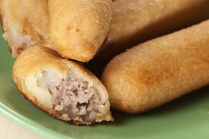 Potato pie with meat filling