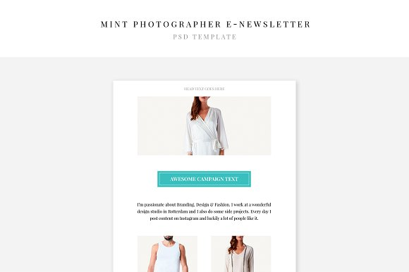 Mint Photographer E-newsletter
