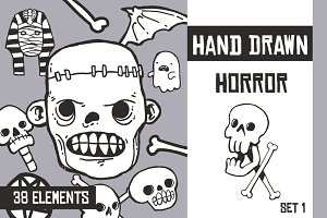 Hand Drawn Horror - Set 1