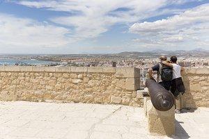 Tourist couple in the Castillo