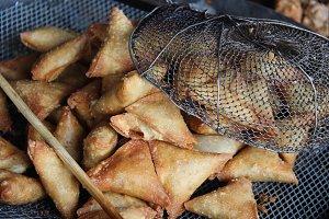 Street Food Samosas in Myanmar