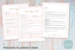 NG034 Wedding Planner Forms