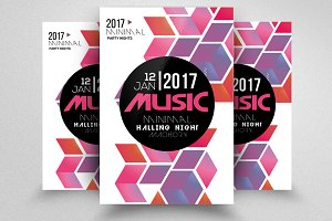 Futuristic & Music Flyer Template