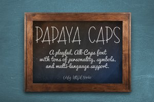 Papaya Caps Typeface