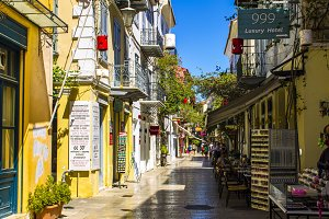 Old street in Nafplio, Greece