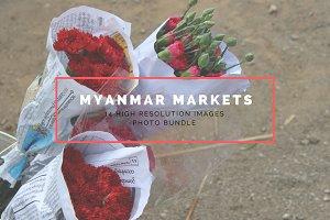 Market Life in Myanmar Photo Bundle