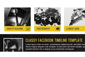 Fashy - Facebook Timeline Template