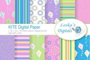 Spring Kite Digital Paper Pack
