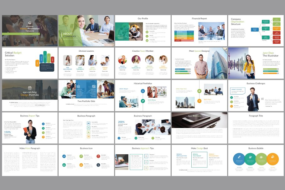 Premium Pitch Deck Template ~ PowerPoint Templates ~ Creative Market