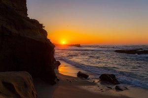 Sunsets on La Jolla Cove San Diego
