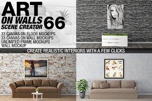 Canvas Mockups - Frames Mockups v 66