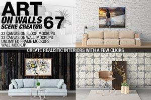 Canvas Mockups - Frames Mockups v 67