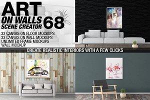 Canvas Mockups - Frames Mockups v 68