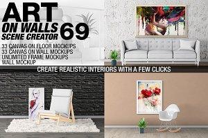 Canvas Mockups - Frames Mockups v 69